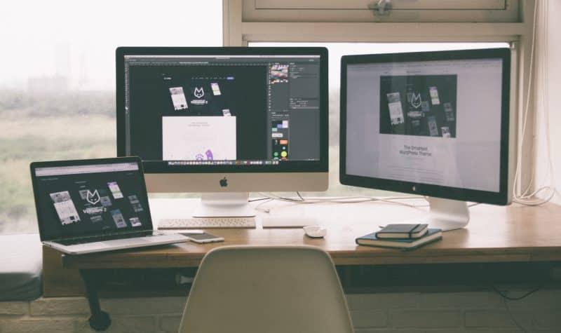 Freelancers work desk